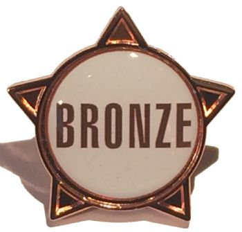 BRONZE (text) star badge